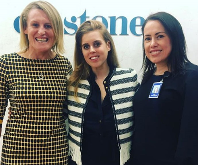 The Princess attended a Women in Leadership luncheon at Chifley Tower in Sydney on Wednesday. *Photo: Instagram/@janebedfordbrown*