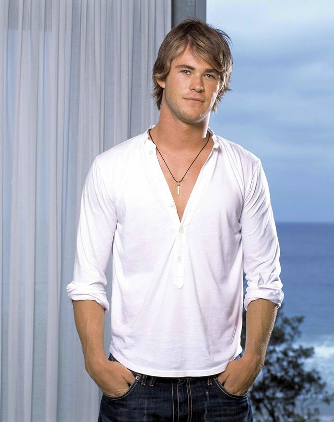 Chris Hemsworth starred as Kim Hyde on *Home and Away* for three years.