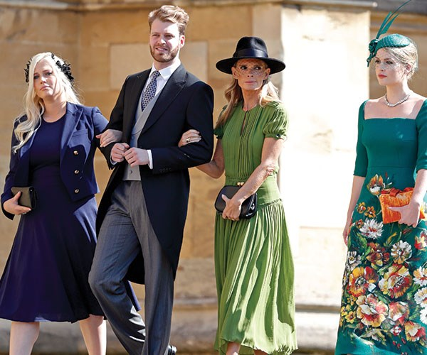 Swoon! The genetically-blessed Spencer clan, led by Louis at the royal wedding.