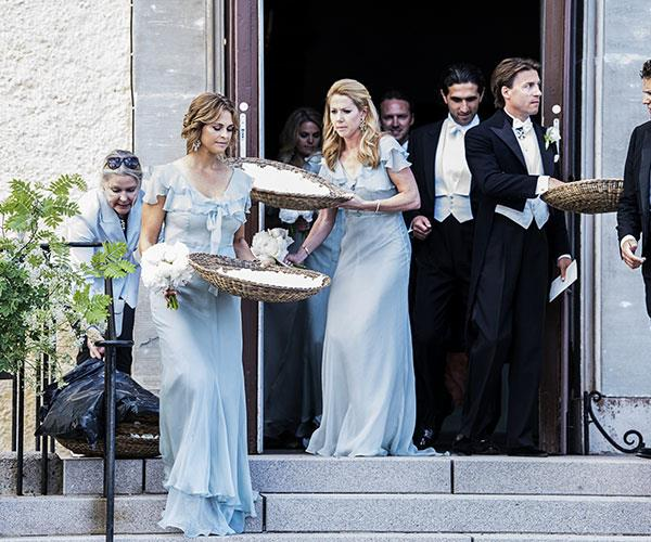 Princess Madeleine, on the left, was a bridesmaid.