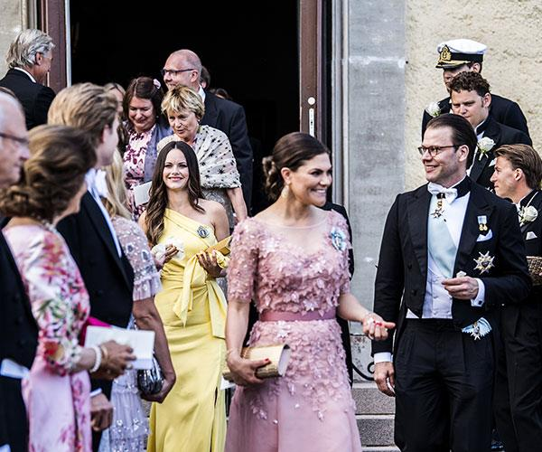 The royal family, including Princess Victoria and Prince Daniel at the front.