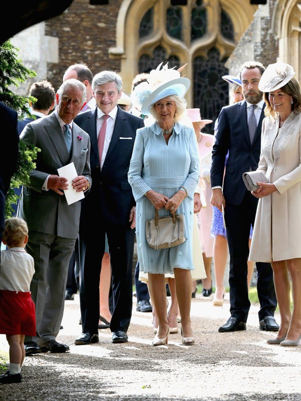 Carole was very amused by George's antics at his sister's christening back in 2015.