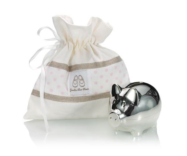 For around $88, Carole loves an English Trousseau piggy bank from Harrods.