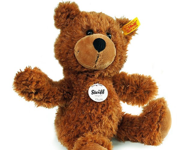 You can't go wrong with a Steiff teddy - around $53.