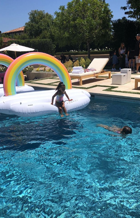 North and Penelope making a splash at their uber-luxe birthday party!