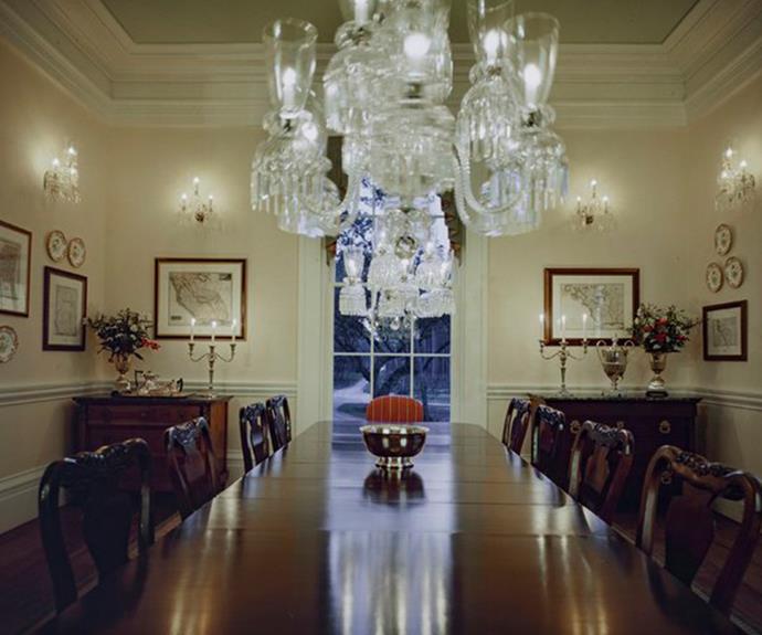 We could imagine dressing up to dine in this room. *Image: Engel & Völkers.*