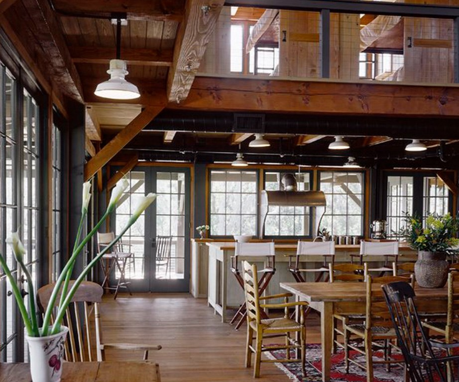 This beautiful house features open-plan living and scene-setting exposed pine beams. *Image: Engel & Völkers.*