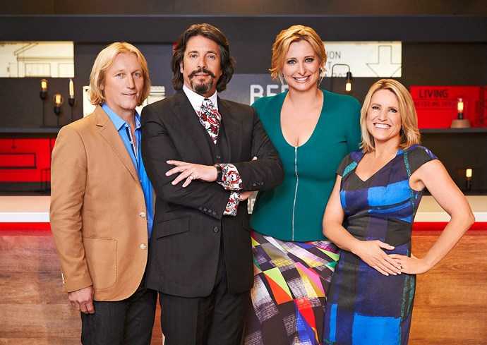 *House Rules* judges Drew, Laurence and Wendy Moore with host Johanna Griggs.