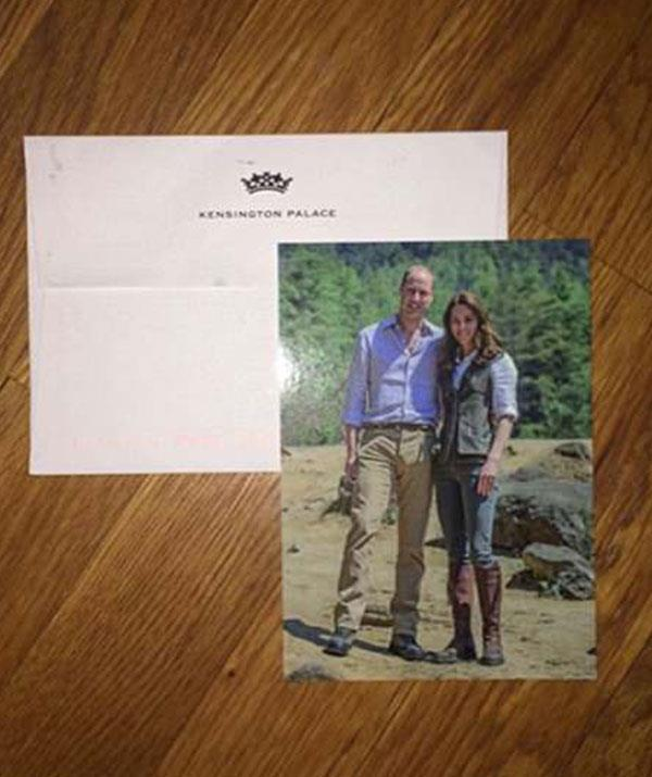 So nice they used it twice! The same image adorned their 2017 thank you cards for their wedding anniversary.