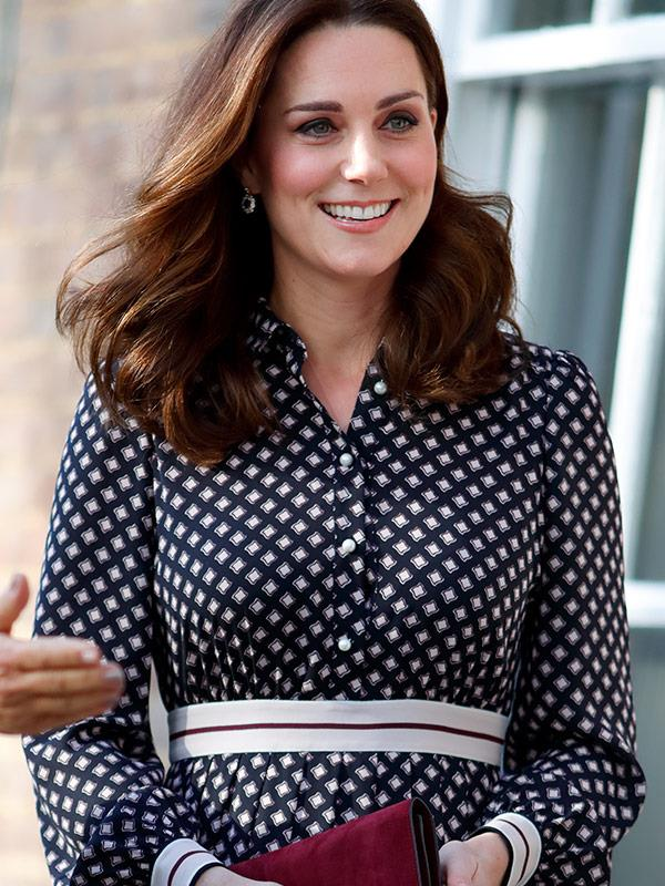 This is the last time we saw Catherine, who was pregnant with Prince Louis at the time, in a Kate Spade design.