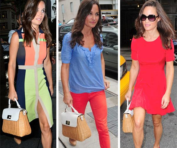Pippa's beloved woven handbag is on high rotation.
