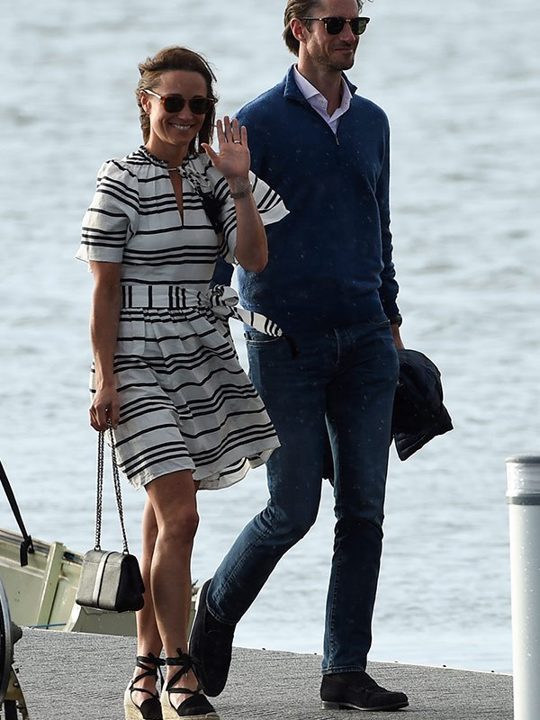 Pippa rocked this striped number during her honeymoon in Sydney.