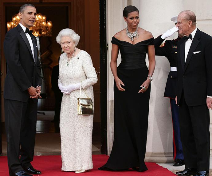 Barack and Michelle were invited to stay the night at Buckingham Palace in 2011 after attending a state dinner with the Queen.