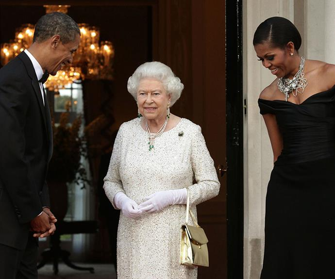 'Your Majesty, please don't tell Michelle!'
