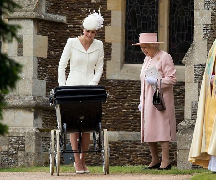 Unlike Princes George and Louis, Princess Charlotte was baptised in Norfolk.