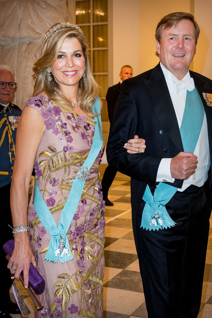 Just last week Queen Maxima and King Willem-Alexander made a happy appearance at Crown Prince Frederik of Denmark's Gala Banquet.