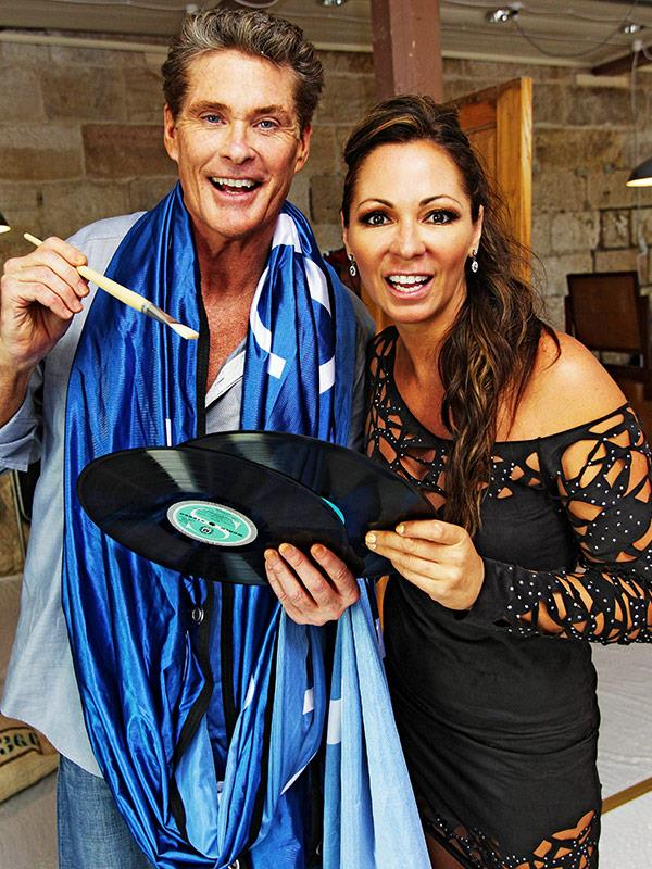 Tania and The Hoff on *Celebrity Apprentice*.