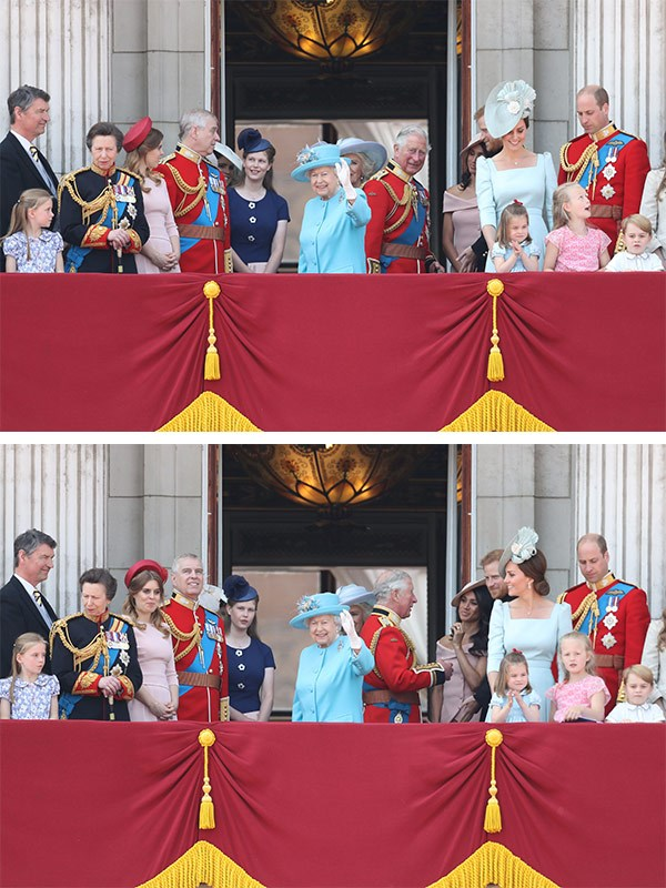 The royal family at the 2018 Trooping the Colour.