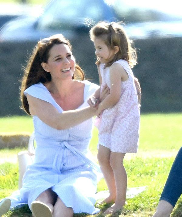 Kate with her little angel.