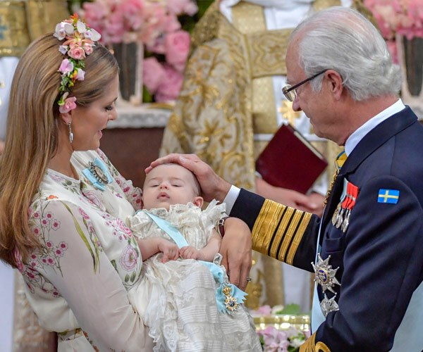 The christening took place on June 8.