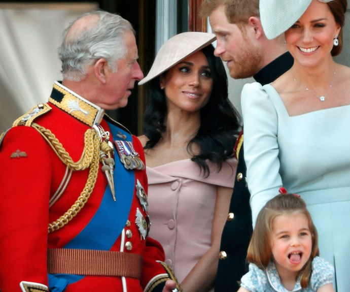 Meghan lets Harry know she is nervous during her first appearance on the Balcony.