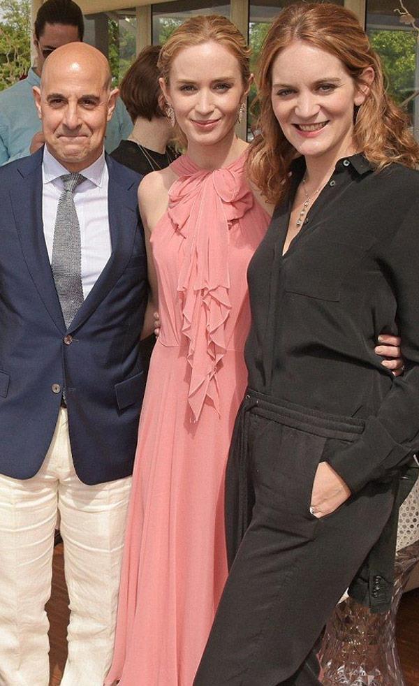 Stanley met Felicity at her sister and his *Devil Wears Prada* costar Emily Blunt's wedding to John Krasinski.