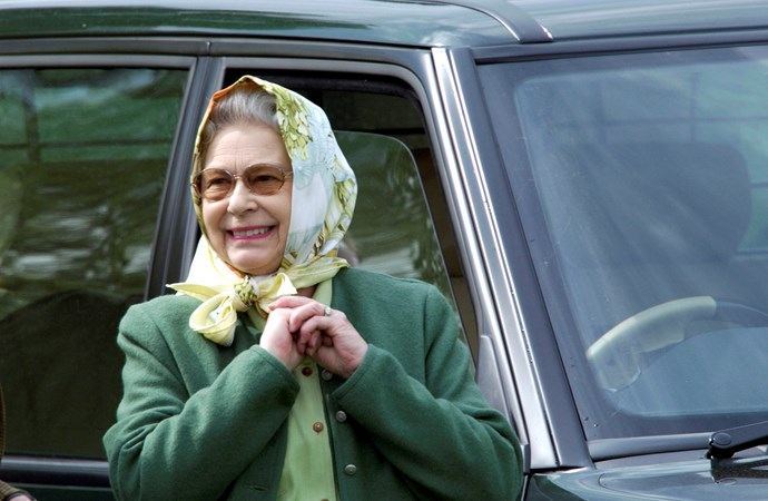 We don't know what she's more excited about: the carriage-driving event at the 2005 Royal Windsor Horse Show or the fact her sunglasses now come with a prescription. You choose.