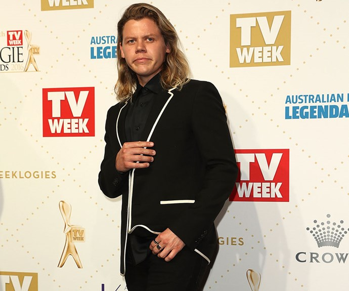 Conrad Sewell at the TV Week Logie awards in 2016.