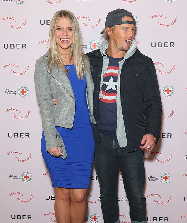 Sam and Tara put on an amorous display at a charity event in Sydney earlier in the month.