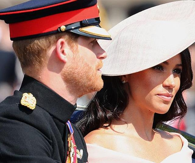 Apparently Meghan was 'nervous' for her first Trooping event - we would be too!