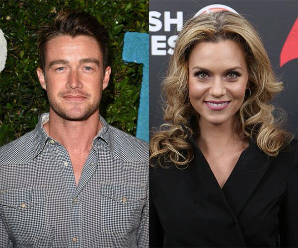 Robert Buckley and Hilarie Burton reunite to play Jolie and Jack in *The Christmas Contract.*