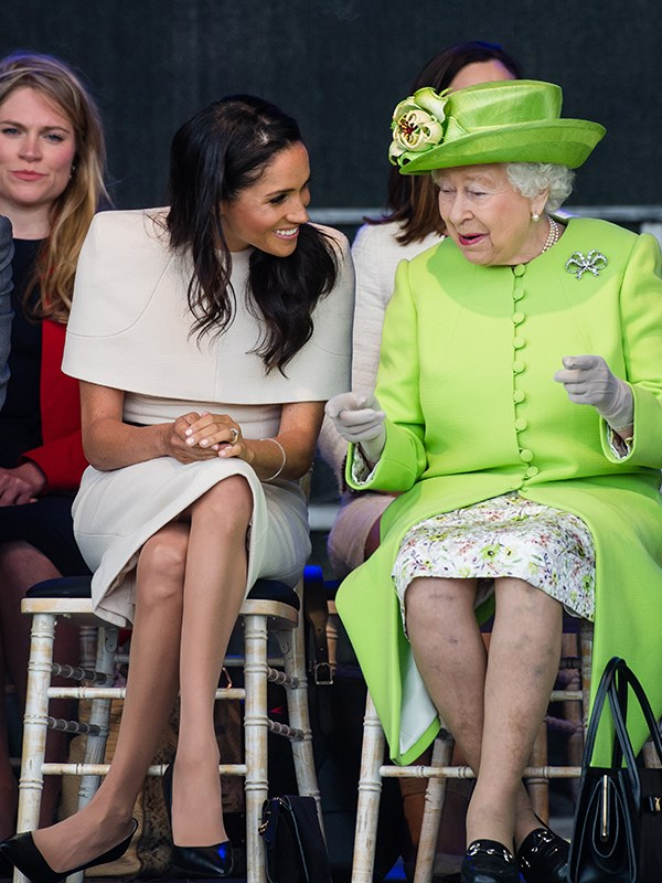 The Queen just can't stop laughing!