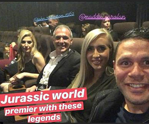 John's since moved on with Kenicha Hatten, pictured here on a double date with Telv and his new partner Maddie Carolan.