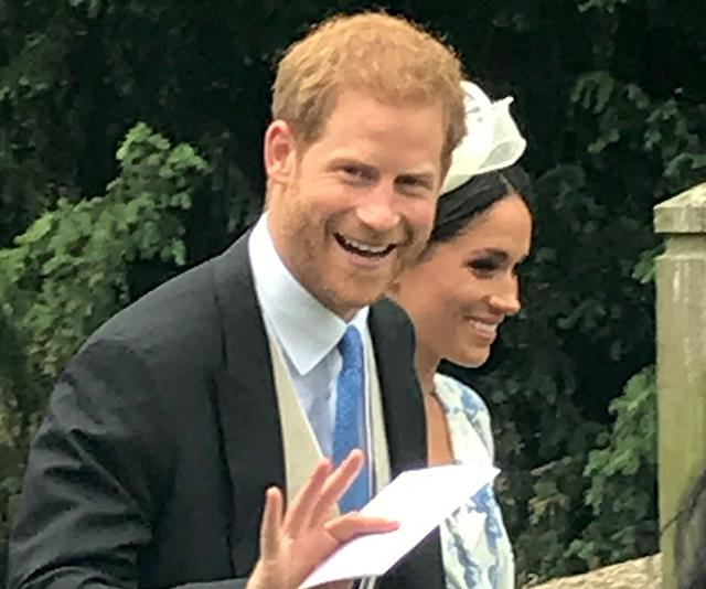Harry, always beaming with Meghan.