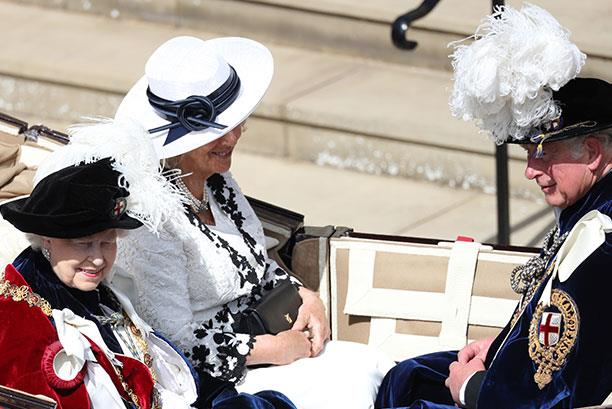 A right royal promotion! This year, Duchess Camilla and Prince Charles rode in The Queen's carriage.