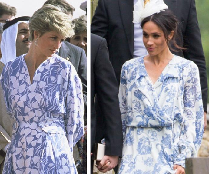 We don't blame Meghan for looking to Princess Diana for style inspiration, her fashion choices would always hit the mark.