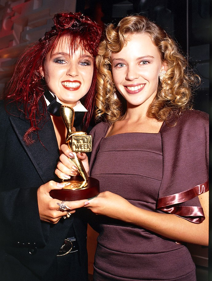 **Kylie Minogue becomes the youngest-ever Gold Logie winner**  In 1988, a fresh-faced 19-year-old Kylie took home the Gold Logie, as well as two silvers - for Most Popular Actress and Most Popular Music Video (for *Locomotion*). The wins represented the arrival of a superstar. On the back of her Logies success and popularity as Charlene in *Neighbours,* Kylie's career really took off. Before long, she was an international star.