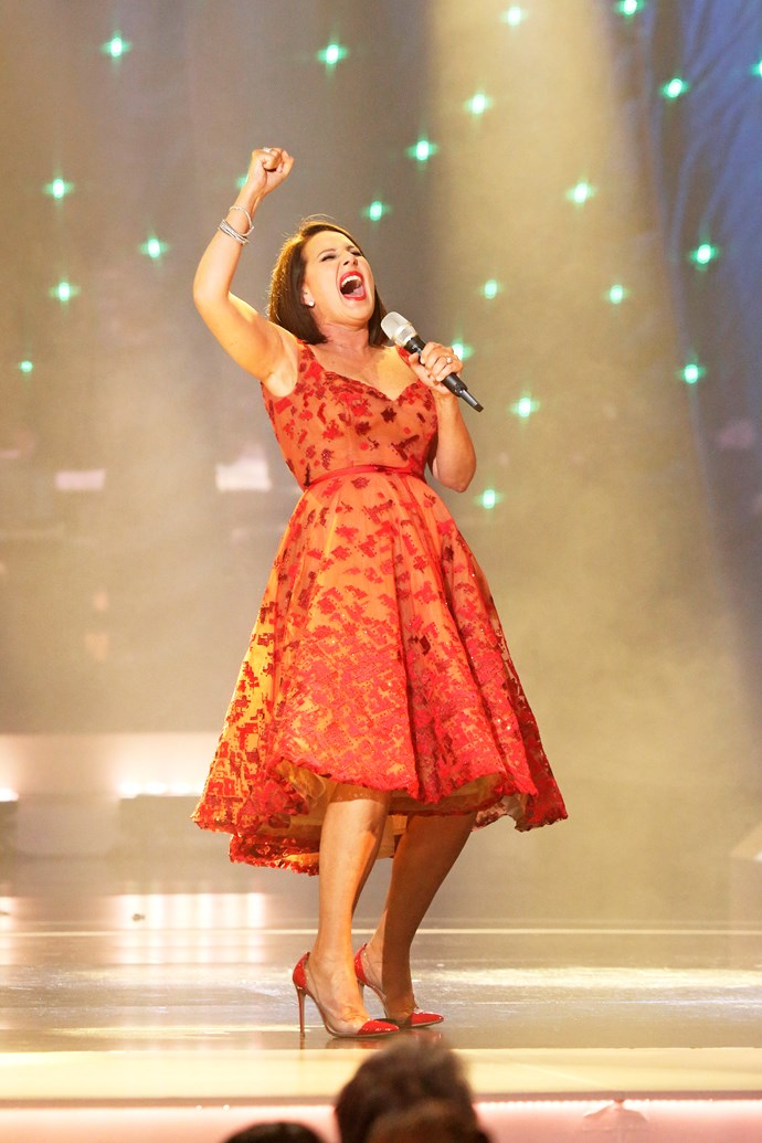 **Julia Morris spontaneously performs *Holding Out For A Hero***  Julia was in the spotlight in 2016 when she shared a home video of herself performing Bonnie Tyler's *Holding Out For A Hero* as shy 17-year-old. She then burst into song to recreate the memory. It had the A-list crowd in stitches - and left her with a stitch in her side.