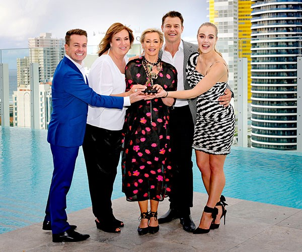 Grant, pictured with the stars in his category, wants to hit the town with fellow Gold Logie nominee Tracy Grimshaw.