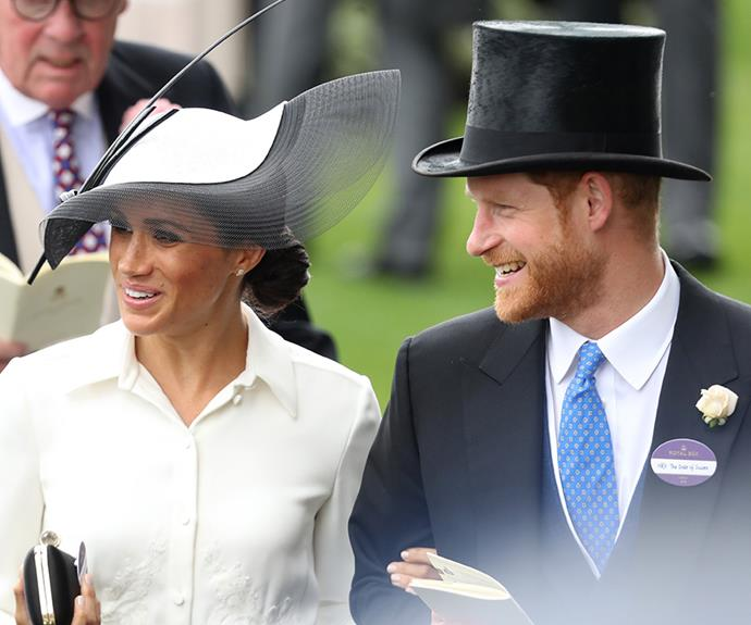 So loved-up! The newlyweds celebrated their one-month wedding anniversary at the Royal Ascot.