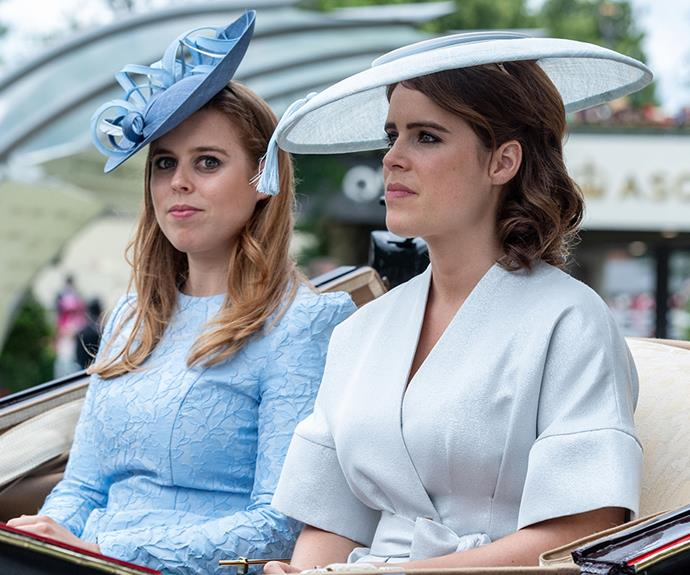 Princess Beatrice and Princess Eugenie hit the mark with their chic racing looks.