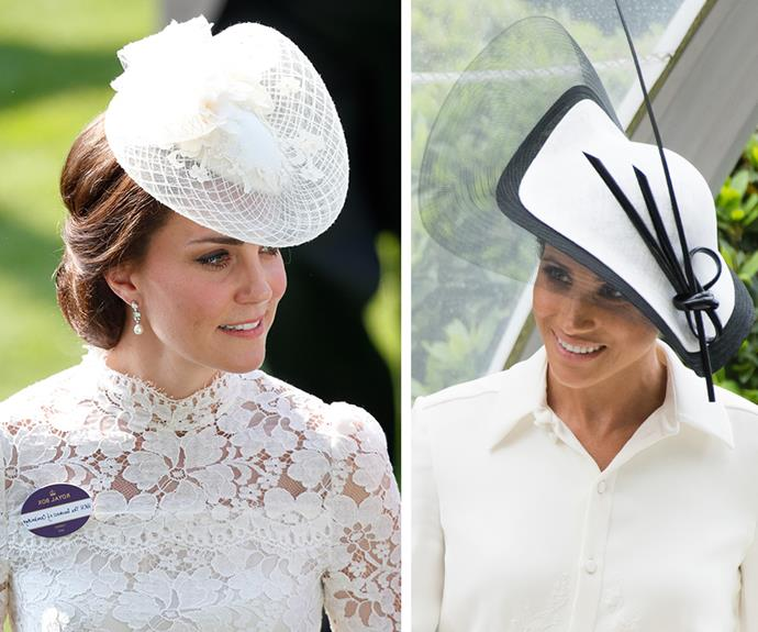 Duchess Katherine always wears a badge to the Royal Ascot.