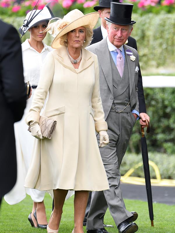 No badge for the Duchess of Cornwall either!