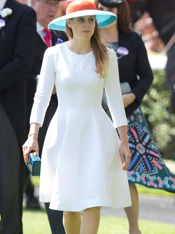 Perhaps one of Princess Beatrice's more demure looks, 2015.