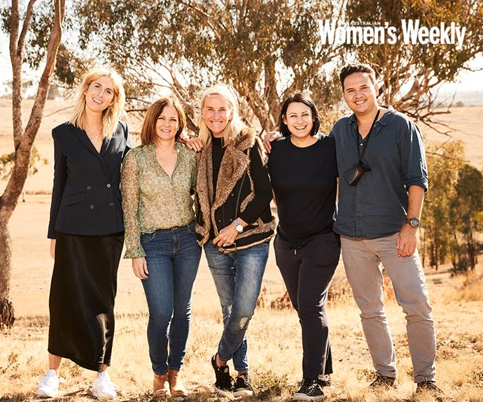 Natalie with *The Weekly's* crew. From left to right: Bianca Lane, Natalie Joyce, Lizzie Wilson, Yolanda Lukowski and Paul Suesse.
