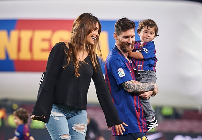 Antonella is almost always on the sidelines with the couple's sons.