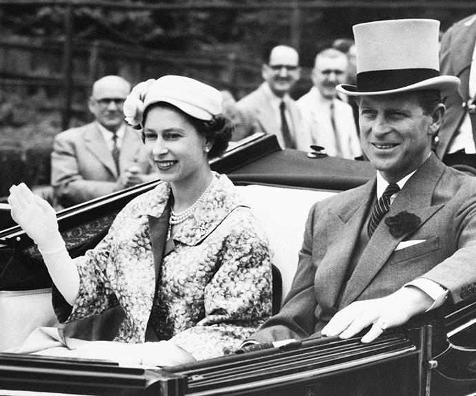 Lizzie was still fairly new at being Queen back in 1957 but she and Prince Phillip look totally at ease.