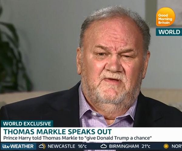 Thomas Markle says Meghan and the royal family 'cut me off completely'