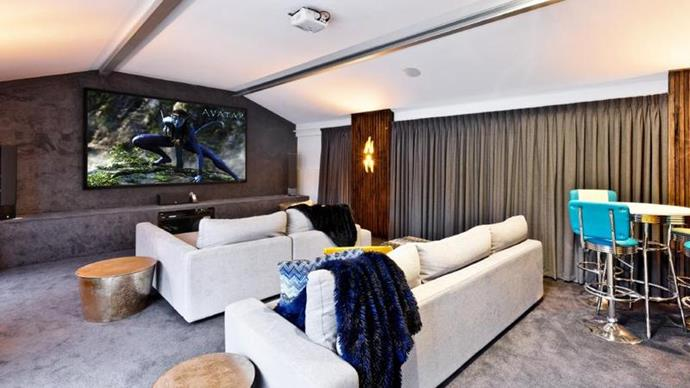 The Cahills added a cinema room during the reno. *Image credit: Realestate.com.au*