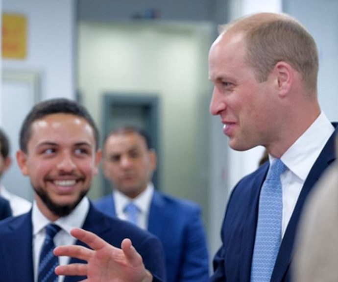 Wills and Hussein appeared to get along famously, while on a tour of a technology lab in Amman.
